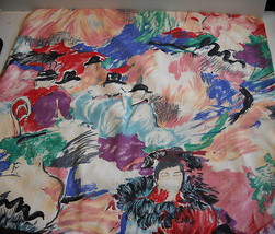 Ready for Finishing~Multi-Color~Abstract Print~100% Heavy Woven Cotton~P... - $8.00