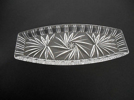 Vintage~New w/o Tags~Clear/Thick/Heavy Cut Lead Crystal~Rounded Rect~Rel... - £18.53 GBP