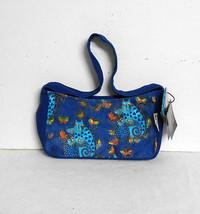New w/Tag~Laurel Burch~Cats & Butterflies~Royal Blue Canvas~Shoulder Bag... - $25.95