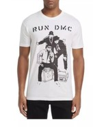 New $34 Men's RUN DMC Hip Hop White Graphic T-Shirt Tee Size Large  - $24.19