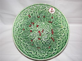 Made in Portugal Green Christmas Holly Berry Ceramic 10 in. Bowl  New - €16,93 EUR