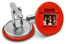 Slade   record cufflinks  ..Printed  45 labels - $18.78