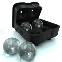 Chillz Ice Ball Maker Mold - Molds 4 X 4.5cm Ro... - $12.75