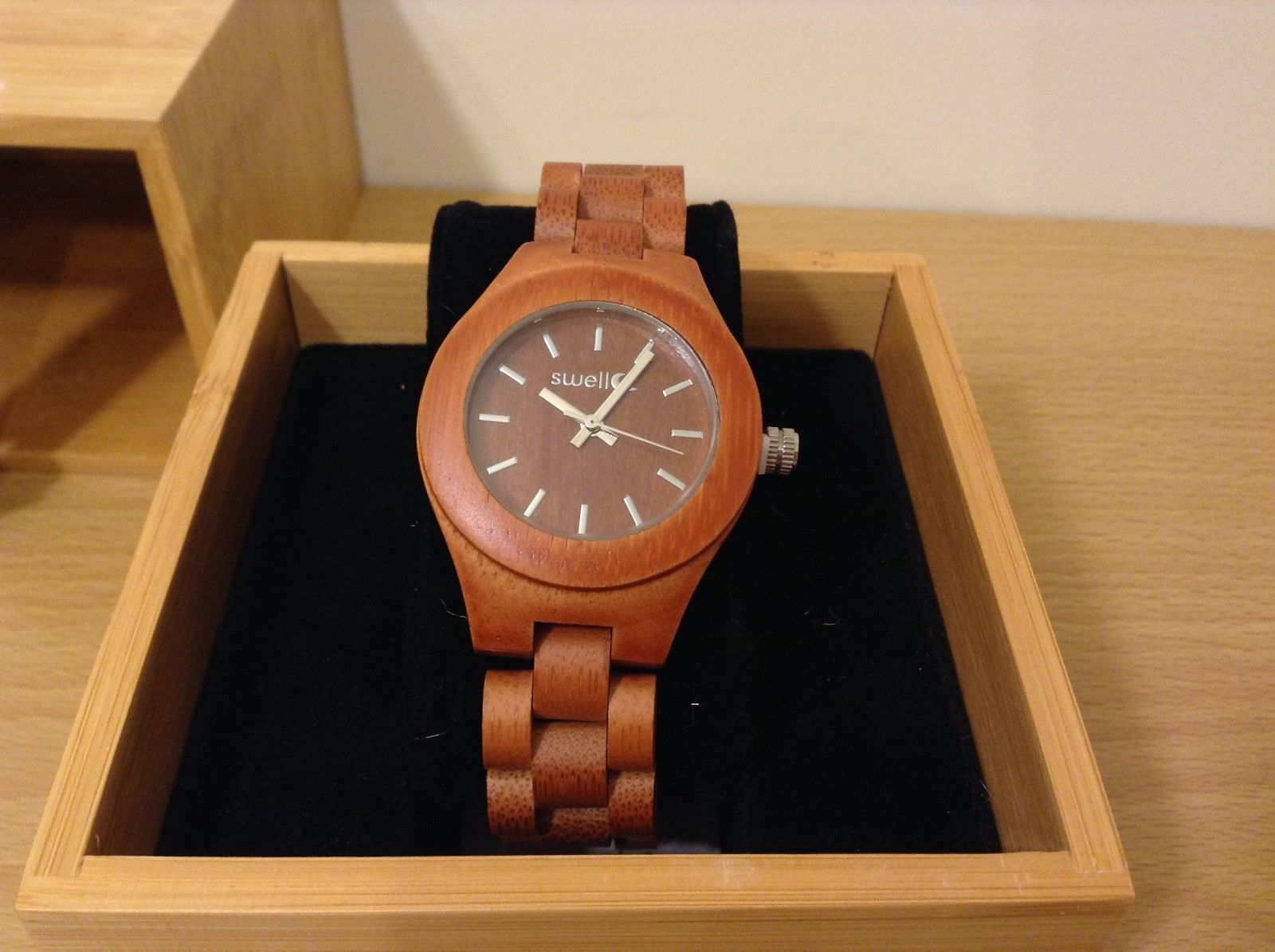 NEW Swell The Natural Beauty Women's 35mm Bamboo Watch