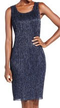 Jessica Howard NEW Navy Shimmer Metallic Women's Stretch Sheath Dress 10... - €26,27 EUR