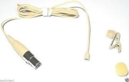 Beige mini Clip Lapel Lavalier Omni-directional Microphone For Shure wir... - $24.00