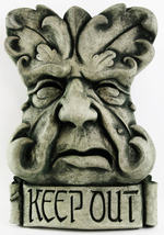 French Green Man Concrete Wall Plaque - $59.00