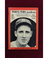1936 WHO'S WHO IN BASEBALL Hank Greenburg Cover 21st EDITION Ex+ Tigers - $69.29