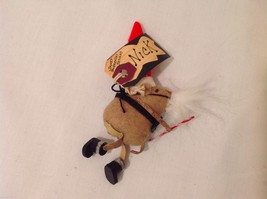Vintage look Handmade Felt Mouse Ornament in Santa's Beard and Hat w/Candy cane image 4