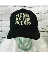 Music On The Mounds Unisex One Sz Snapback Hat Black 100% Cotton Ball Ca... - $11.88