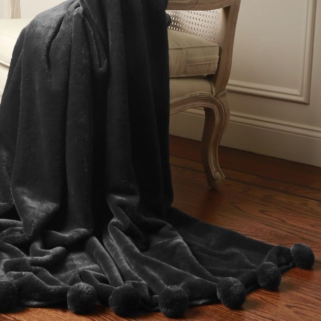 "Faux Fur Luxe Throw Blanket Bedding Chair Sofa Plush Accent Home Decor 58"" x 60"""
