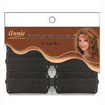 Annie Silky Satin Rollers X Large 6 Count  1 1/4'' #1241 - $4.90