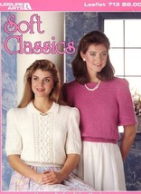 "Soft Classics Crew Sweaters Knitting Pattern Leaflet 30"" to 40"" - $1.32"