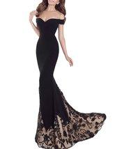 Fanmu Off Shoulder Spandex Long Prom Dresses Evening Gowns Black US 16 - $149.99