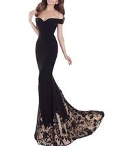 Fanmu Off Shoulder Spandex Long Prom Dresses Evening Gowns Black US 4 - $149.99