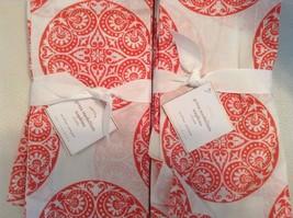 Pottery Barn Greta Medallion Napkins Set of Eig... - $46.32
