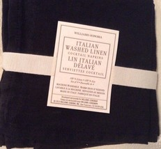 Williams Sonoma Italian Washed Linen Cocktail N... - $18.33