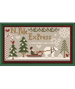 North Pole Express Freebie with floss bundle (5 skeins) Classic Colorworks  - $12.50