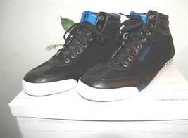 Leather High Fashion US Calvin Men Sneakers Black Top Blue Size Klein Casual 12 qqXgA4w