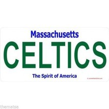 MASSACHUSETTS CELTICS TEAM BOSTON NBA BASKETBALL LICENSE PLATE MADE IN USA - $28.49