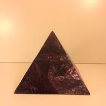 """Pyramidal Mother of Pearl Box 4 1/2"""" - $18.23"""