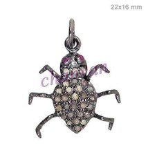 Victorian/Vintage Look Rose Cut Diamond Sterling Pave Spider Pendant CSJ... - $99.02