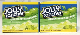 Jolly Rancher Green Apple Gelatin Dessert Mix 2.79 oz ( 2 Boxes ) Jello - $4.28