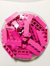 36 New Lego Bulk Lot 1x4 Dark Pink Hot Pink Bri... - $7.67