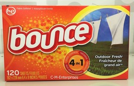 Bounce Outdoor Fresh Fabric Softener Dryer Sheets 120 count box - $9.49