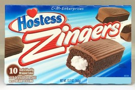 Hostess Zingers Iced Devils Food Snack Cakes 12... - $5.69