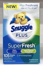Snuggle Plus Super Fresh Fabric Softner Dryer Sheets Everfresh Scent 105 ct - $7.99
