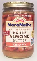 Mara Natha All Natural No Stir Creamy Almond Butter 12 oz - $11.75