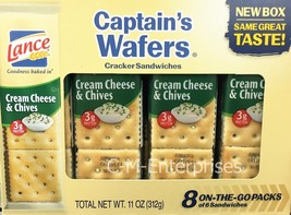 Lance Captain's Wafers Cream Cheese & Chives Cracker Sandwiches On The G... - $5.65