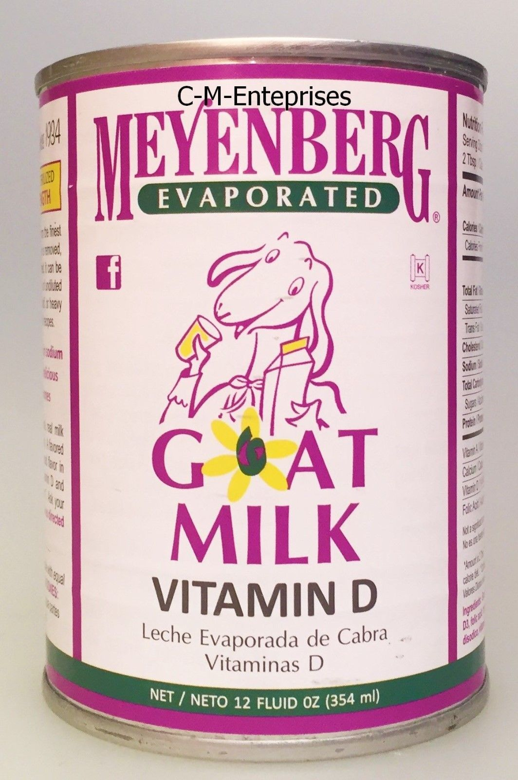 Meyenberg Evaporated Vitamin D Goat Milk 12 oz can