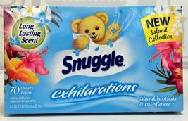 Snuggle Exhilarations Island Hibiscus & Rainflower Softener Dryer Sheets... - $6.64