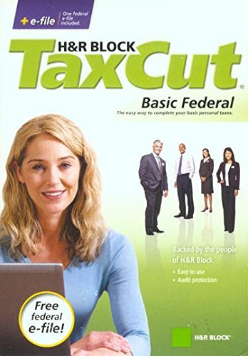 H&R Block TaxCut 2008 Basic Federal + e-file [CD-ROM] Windows 7