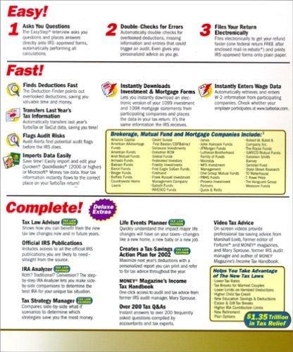 TurboTax 2001 Deluxe [CD-ROM] Windows 98 / Windows 2000 / Windows Me / Window...