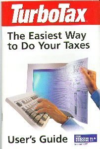 Turbotax User's Guide for Tax Year 1995 for Windows 95 & Windows 3.1. Include...