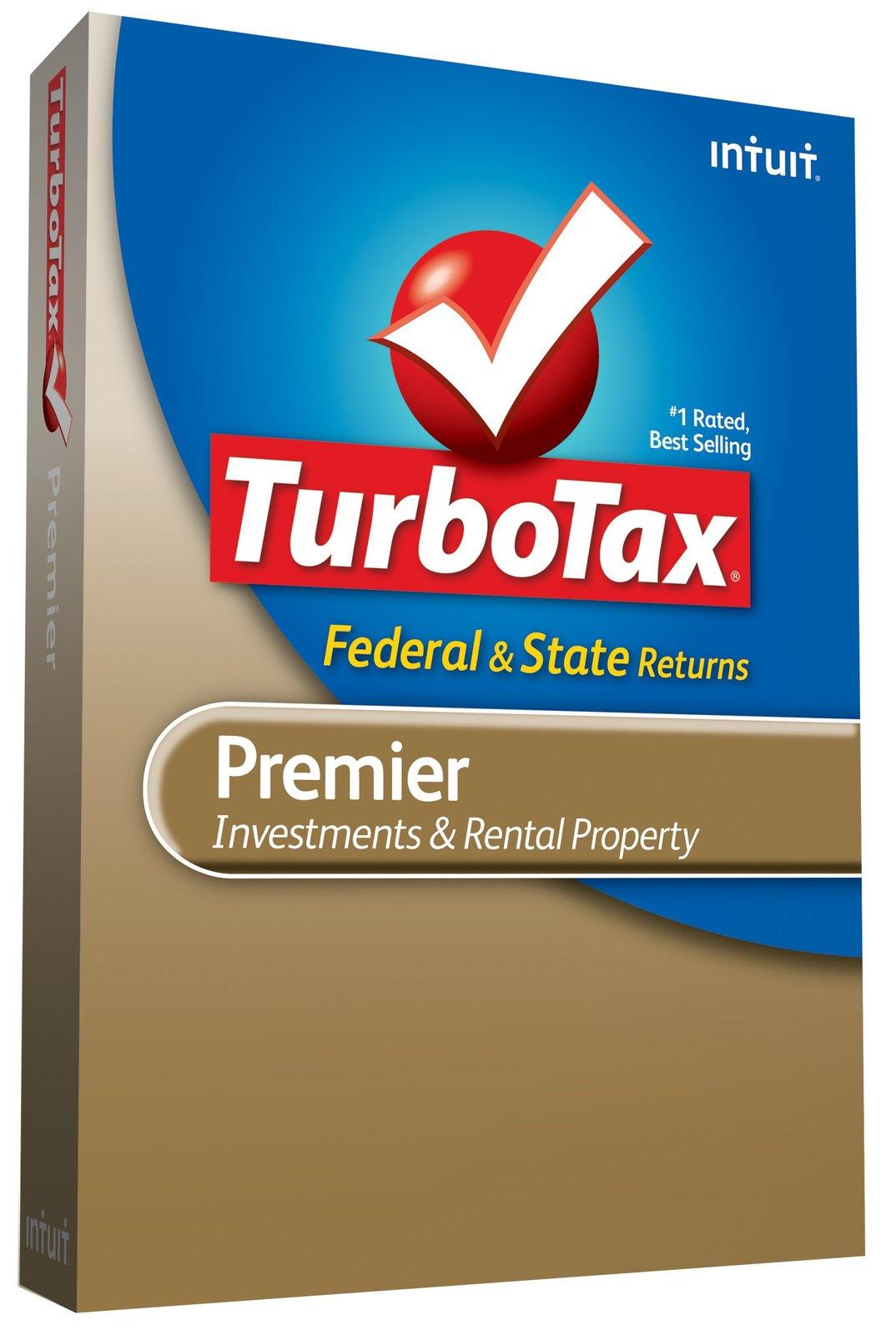 TurboTax Premier Federal + State + Federal efile 2009 [CD-ROM] Windows 7 / Wi...