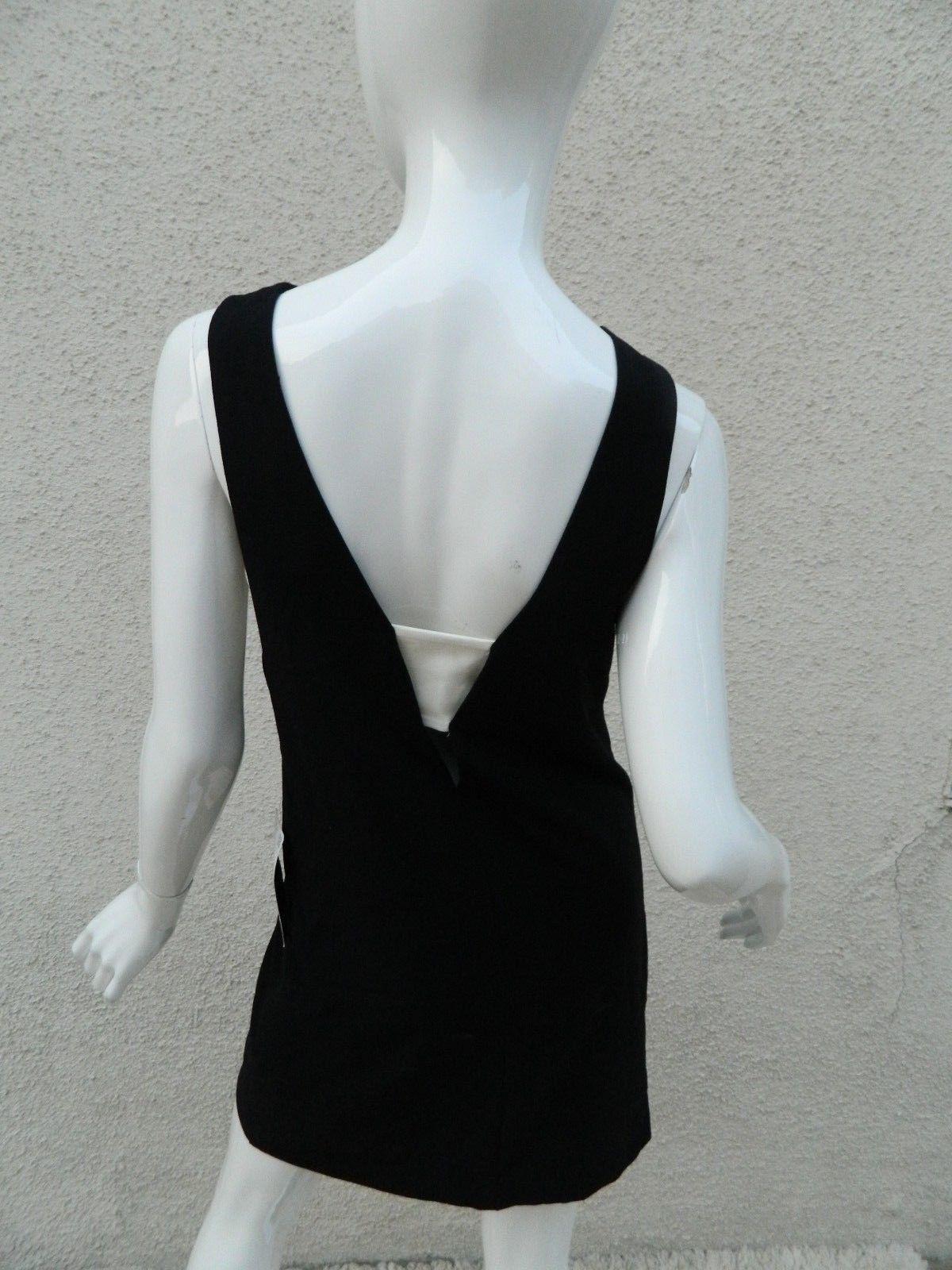 f2d4562c2ddcb1 NWT Zara Basic Dress Black   White Side Cutout Sleeveless Dress Size XS