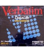 "Verbatim Data Life High Density 5 1/4"" Diskettes 10 pack MD2-HD - $9.89"