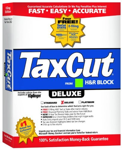 TaxCut 2002 Deluxe Filing Edition [CD-ROM] Windows 98 / Windows 2000 / Window...