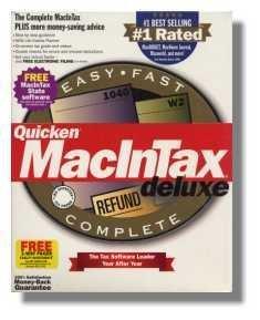 1999 TurboTax Mac Deluxe Federal Intuit Turbo Tax [CD-ROM] Mac