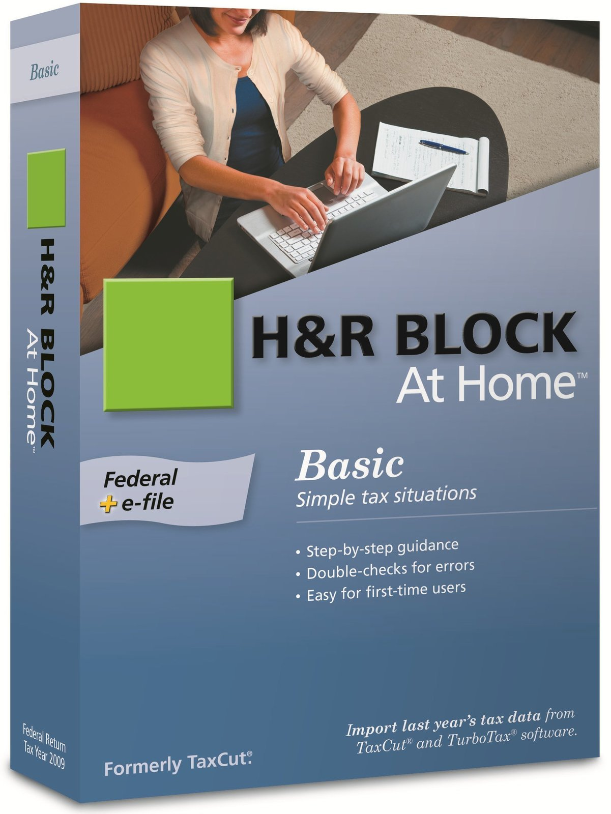 H&R Block At Home 2009 Basic Federal + eFile [Formerly TaxCut] [CD-ROM] Windo...