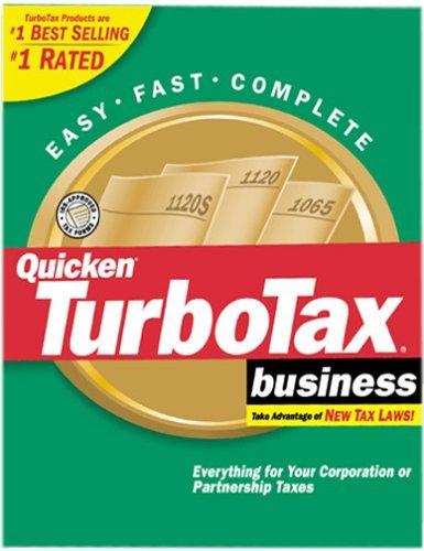 TurboTax 2001 Business [CD-ROM] Windows 98 / Windows 2000 / Windows Me / Wind...