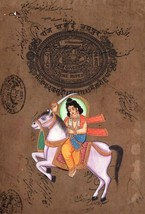 Ten Vishnu Avatar Dashavatara Paintings Handmade Stamp Paper Indian Hind... - $599.99