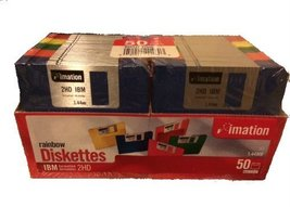 imation 50 ct Rainbow Diskettes IBM 2HD 1.44MB (Discontinued) - $89.09