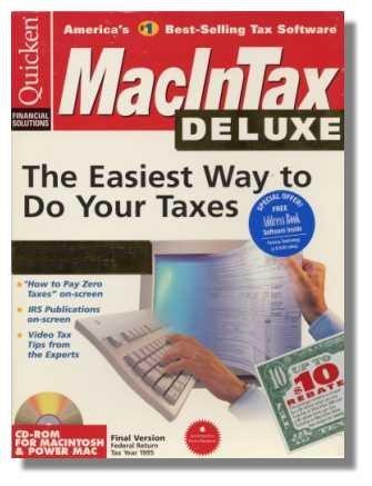 1995 TurboTax Mac Deluxe Federal Intuit MacInTax Turbo Tax [CD-ROM] Mac
