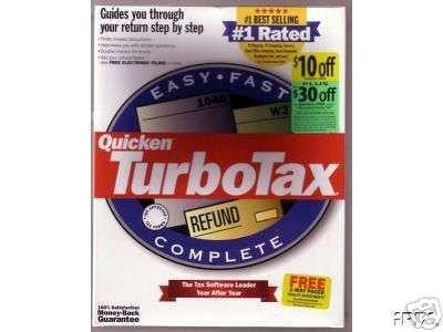 Quicken TurboTax - Federeal Return Tax Year 1999 [CD] Windows 98 / Windows NT...