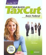 H&R Block TaxCut 2008 Basic Federal + e-file - $14.44
